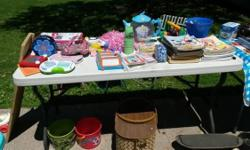 Items that did not sell yet from our rummage sale: Basketball Hoop Growing Level (needs new net) - $5 Bop-It Motorskills Quick Hand Game - $7 (needs new batteries) Cabbage Patch Doll Yellow/Blonde Hai