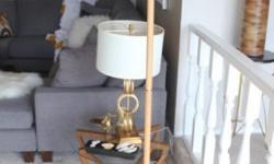 Modern floor lamp 6' tall $50 Footpad brightness control Call or Text Ernie 989-6960