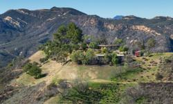 MOONGLOW RANCH - A private,serene,secure 58-acre paradise at the top of Topanga Canyon,surrounded by protected parkland and 360vistas,conveniently close to all that Calabasas, Malibu, and Santa Monica