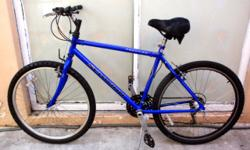"MOUNTAIN BIKE, 26"", SCHWINN ""FRONTIER"", 21 speeds, in perfect working condition, 19"" Hi-ten light-weight frame. Quick-release aluminum wheels, professional Shimano two-lever shifters. $ 90 Please call"
