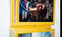 Sets of National Geographic mag. with 30 different issues in set. Issues are 6 each from 50's,60's,70's,80's,90's. Issues are in normal wear condition. These are extras & duplicate issues from a very