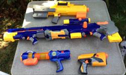 Nerf guns for sale.  $35.00 for the lot or will break up and sell separately.
