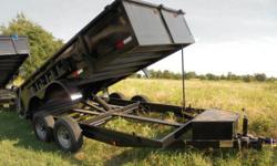New 7x14 Dump Trailer by Cross, heavy duty design, tandem axle 7,000 lb axles. and well built for medium to heavy duty hauling or just simple moving at a great price. Call Matt at  for mor