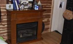 Purchased New , Never been used Solid Cherry wood Mantel and surround Nothing is wrong with it - still like new Was for a new home construction, never installed, kept in storage inside MUST SALE $750