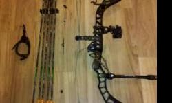 New Mathews Solocam Drenalin LD Compound Bow. Black. Illuminated sights. Mathews quick release quiver. 5 Gold tip arrows. Draw Length: 30-31 inches. 70 pound draw. Call 828-553-2981 for more info. Loc