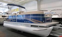 NICE 2013 SWEETWATER 2086 SW WITH ONLY 52 ENGINE HOURS! A 50 hp Honda 4-stroke EFI outboard with power trim powers this nicely equipped pontoon. Features include: color coordinated bimini top w/remova