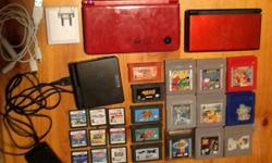 Have 3 older Nintendo handheld gaming consoles, all have been factory reset and are ready for new owners: Red Nintendo DSi XL $100 Red Nintendo DS lite (top screen is broken, but still works to play o