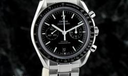 brand-new, unworn, under manufacturer's warranty OMEGA SPEEDMASTER 44.25mm Moonwatch Co-Axial Chronograph Caliber 9300 (new release), on bracelet ref 311.30.44.51.01.002 ~ $8,700 retail CONDITION: Bra