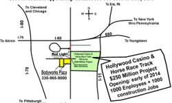 Good Investment Opportunity - For Sale/Lease-a neighborhood Plaza, right next to New $250 million Hollywood Casino and Horse Race Track the best prime location in the region, at the traffic light. For