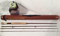 Brand new Orvis Access Rod and Type III Reel are new and only tried in back yard for casting. New from Orvis costs is around $700. The rod is 9', 6 wt., tip flex. Absolutely beautiful! You can see fro