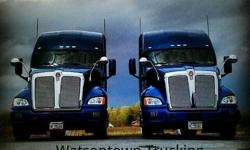 WATSONTOWN TRUCKING is seeking drivers to service our increasing customer base. WTC is a household owned and run business with exceptional growth and stability. having an exceptional reputation for on