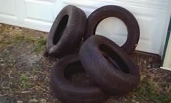 Set of 4 matching tires--P195 60R14--(will fit on an older Toyota Camry model or similar vehicle), with at least 60% tread. $200, OBO, for the set of 4.