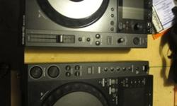 Barely used pair of pioneer nexus 900 cdjs, all cables included. They will take Mp3 or CDs. Excellent condition, I bought them from someone that only used them once, and since then I have used them th