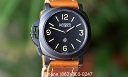Panerai PAM 360 Luminor Base Model Logo Dial PVD Paneristi Special Edition Destro Modified. Excellent to Like New condition with box and papers. A Panerai Historic Base Luminor Model with a black PVD