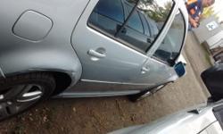 Front damage. 148000 miles on 24 valve bdf motor. 2.8 vr6. Rebuilt auto tang still under warranty. Silver with black leather.