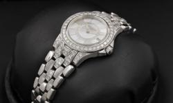 Patek Philippe, Neptune, White Gold, Factory Diamonds, White Diamond Mother of Pearl Dial, 26mm Condition: Mint & Unpolished Reference: 4881/120G Included: Patek Philippe Inner & Outer Boxes, U.S. Patek Philippe Warranty Certificate, Hand Tag & Manuals
