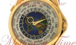 "SUPER RARE GORGEOUS DISCONTINUED 5131J-014 WORLD TIME ""MAP"" WITH CLOISONNE ENAMEL CENTER DIAL Featuring a miniature map of Europe and America. UPDATE MODEL FROM THE 5131J-001 WORLD TIME ""MAP"" It is a"