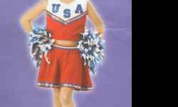 Red USA Cheerleader costume - 2 available Large 10-12 $15 each Adult sizes Blue - Med Red - Large $20 each Call Lisa - 712-242-7164 Location: Council Bluffs