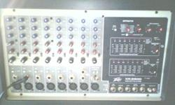 Used live for 3 gigs, mainly for rehearsals with vocals.  Functions:. 10 line inputs. 3-band equalization on each channel. Display send on each channel. 25 dB pad: channels 1-6. Dual major or main/mon
