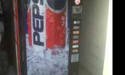 Dixie Narco Pepsi vending machine for sale, slots for seven cans, holds 300 plus total sodas. Some slots need work. Refrigerator and dollar changer work perfectly. I did have this machine in location,