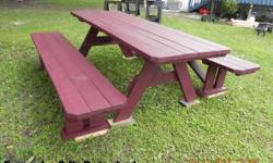 Hello, My husband and I build picnic tables ranging from 4 ft. to 8 ft. in length. These picnic tables would be great for any church function, park, work place, beach, day care, family reu