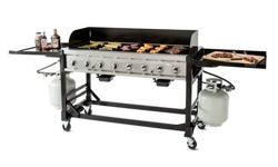 Commercial outdoor grill for rent. $65.00 per day plus propane at $18.95 per tank per day. We will also deliver and pick up for a charge of $50.00 within a 25 mile radius. May go a little further for
