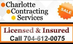We are one of few service providers that offer a clear rate for the service we provide! Charlotte Contracting Services can take on minor plumbing projects at the absolute best price in Charlotte. Plea