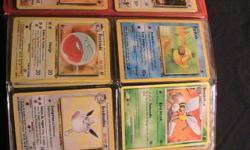 """Offering Pokmon cards not PSA inspected however in mint/near mint condition all from around 1995-2005. We also have """"yu gi oh"""" cards. If you have an interest in purchasing any of these cards kindly co"""