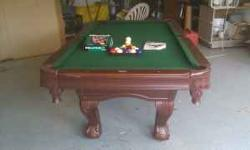 Pool Table. Sports Craft. Barely used. Always covered in insulated garage. It comes with complete set of balls, two cues, one bridge, two cue balls, and extra chalk. I may deliver for an extra $50 in