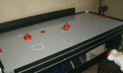 I have a pool table, hocket & pin pong.... Im asking 200 obo. it will come with EVERYTHING. It works Great and looks great. ! Please call 910-525-6561 // //]]> Location: roseboro