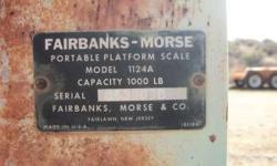 Fairbanks- Morse Platform Scale 1000 lb capacity Call Art: 928-925-0239 // //]]> Location: Dewey, AZ