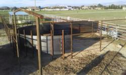 Professional, dependable service offered in the constructing of many types of horse and cattle setups. Oil pipe Sucker rod T posts Barb wire Field fence HORSE SET UPS: Round pen Stalls Shelters Tie po