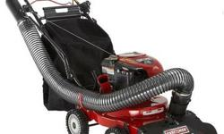 The Craftsman Chipper/Shredder Yard Vacuum Picks It Up And Bags It With Power Whether you're clearing a putting green, flower bed or cleaning-up after a storm, this powerful 4-N-1 Plus Craftsman chipp