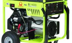 The Pramac S14000 was developed with the contractor or rental operator in mind to meet the everyday demands found on multiple job sites. This unit includes a Honda GX manual start OHV/OHC gas engine w