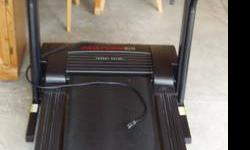 Pro Form treadmill, excellent condition, digital display, incline features, very streamline.  Rarely used.  Comes with protective mat and owners manual.  Easily folds to save space or for storage.  Ca