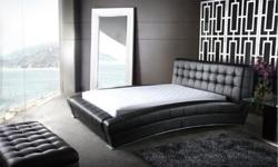 This particular leather bed is a queen size set and was purchased in Oct 2014. It was placed in storage in Feb 2015. The mattress is also for sale. The mattress is a great quality pillow top mattress