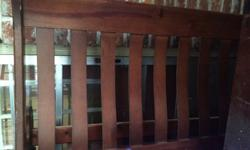 I have a wood queen size sleigh bed for sale. You get, head board, foot board, wood side boards, 8 drawer dresser and night stand. The dresser does have a dent in the front of it but it can be covered