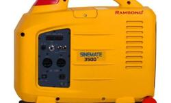 Ramsond introduces the new generation of Sinemate Portable Digital Inverter Gasoline Generators. Advanced engineering and state-of-the-art manufacturing techniques make the Ramsond Sinemate the most r