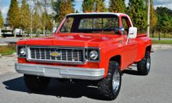 Outstanding 1974 Chevrolet C-20 StepSide 4x4 This Classic Pickup has been owned by the Unadilla Fire Department in Michigan its whole life They have verified on the title that this truck has 9K Actual