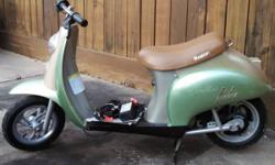 """Max: 170lbs Age: 13+ USED Scooter in Very Good condition (Scratches only) Product Weight: 59 lbs Assembled Product Dimensions: 50"""" x 18"""" x 30"""" 24V (two 12V) sealed lead acid rechargeable battery syste"""