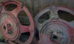 rear wheels with center hubs from Farmall H $50.00 for the pair call 815-575-2533 Location: woodstock,il