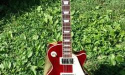 For sale: an utilized AL-2500 Les Paul copy. The guitar is in wonderful condition disallowing a few small dings. These run about $300 new and this one includes a Fender strap and a Chromacast job bag.