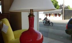 This new red light is the perfect pop of color in your interior decoration. Offered with white or red shade. Furnishings for Hope is a non-profit retailer of brand-new, used & classic furnishings and
