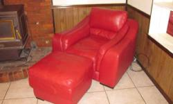 Red leather couch, half chair, and ottoman. Selling together for $1250 but am willing to sell the pieces seperately. The furniture is in excellent condition. Please contact me at 4054887464 call or te