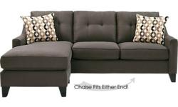 2 Piece Sleeper Sectional Sofa in Slate Gray. Asking $775.00 OBO, currently retails for $1,238.00. Second piece is a chaise that can be placed on either end of the sofa, pull out bed has a Queen sized