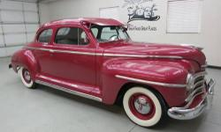 1947 Plymouth Special Deluxe Club Coupe 2dr. with only 30,163 miles on original car and very low miles since restoration was completed. Nothing spared with this quality work of skill and craftsmanship