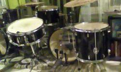 Includes kick, snare, hi hat, rack tom, floor tom, cymbals and hardware. In Northampton.