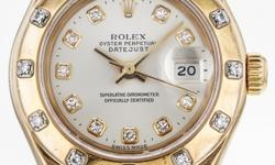 Rolex DateJust Master Piece 18K Yellow Gold Diamond Dial/Bezel. Manufacturer's box and papers not included.