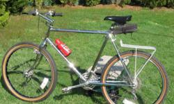 Ross Mt. Whitney Mountain Bike with Cro-moly frame. Vintage Bike Original owner- Great Condition. Ross invented the Mountain Bike category with this model Chrome frame. Frame : Ishiwata double butted