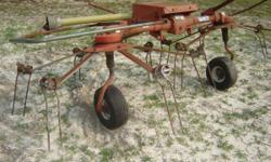 Enoagricola Rossi 2 Basket Hay Tedder model G2L trailer type PTO. Works Good! $650 or best offer... Cash Only Call 912-509-0611 If I don't answer PLEASE leave a number so I can call you back. Due to e